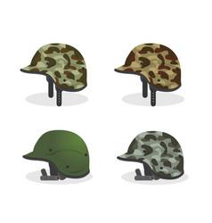 set military helmet object to veterans celebration vector image