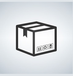 Shipping icon package box vector