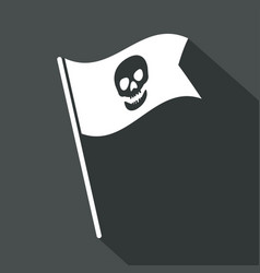 skull icon a long shadow vector image