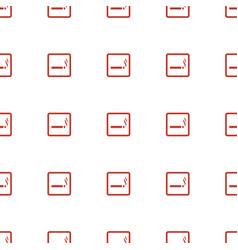 smoking area icon pattern seamless white vector image