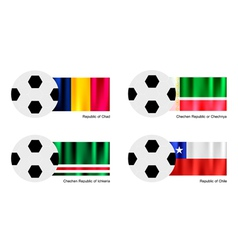 Soccer Ball of Chad Chechen Republic Ichkeria vector image