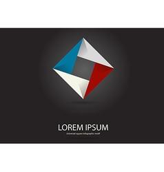 Square infographic logo vector