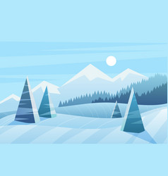 sunny winter day vector image