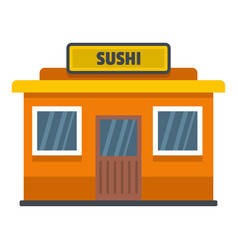 Sushi shop icon flat style vector