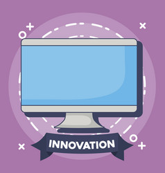 technology and innovation design icon vector image