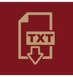 The TXT icon Text file format symbol Flat vector image