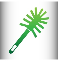 Toilet brush doodle vector image