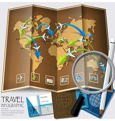 Travel And Journey World Map Infographic vector image