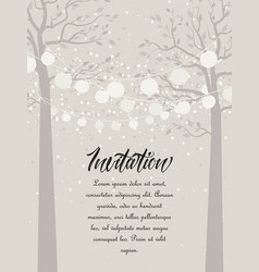 Tree with lanterns vector