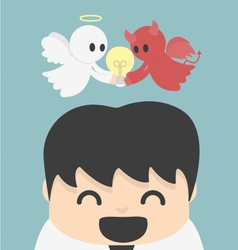 Unity- angel and devi l vector image