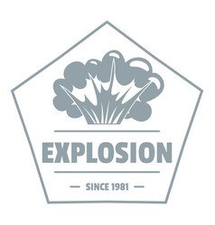 weapon explosion logo simple gray style vector image