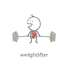 Weightlifter vector image