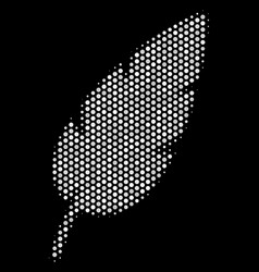 white pixelated feather icon vector image