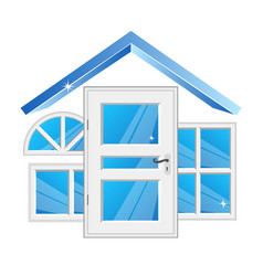 Windows and doors for home vector