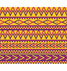 yellow pixeled brazil pattern vector image