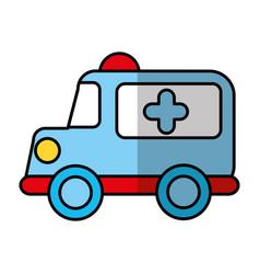 ambulance vehicle isolated icon vector image