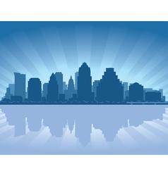 Austin texas skyline vector