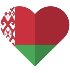 Byelorussia flat heart flag vector image vector image