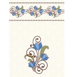 Invitation card with flowers vector image vector image