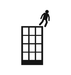 Man falling down of building icon vector image