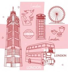 symbols of london vector image