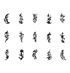 Tribal tattoo symbol design vector image vector image