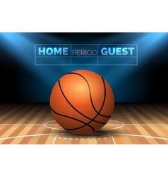 Basketball court with ball vector image