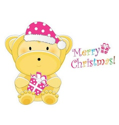 christmas childrens card vector image vector image