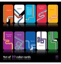 Set of ten abstract card vector image vector image