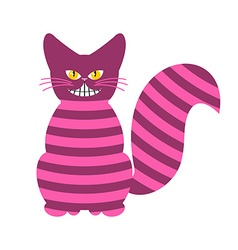 Cheshire Cat Magic animal with long tail Striped vector image