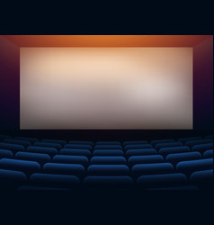 movie cinema hall theater with projection wall vector image vector image