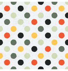 seamless variegated polka dot pattern vector image