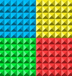 colors pyramid seamless pattern vector image vector image