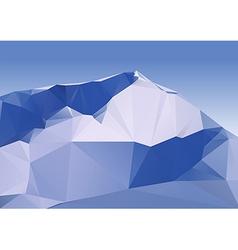 Geometric Mountains vector image