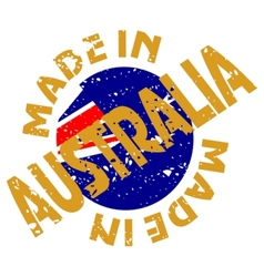 label Made in Australia vector image vector image
