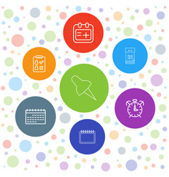 7 reminder icons vector image