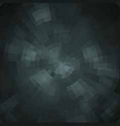 Abstract black shiny concentric mosaic vector