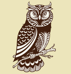 abstract owl vector image