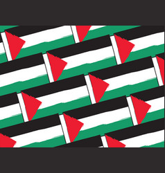 abstract palestine flag or banner vector image