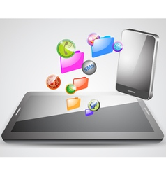 Application synchronization on tablet with vector