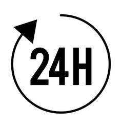 arrows around 24 isolated icon design vector image