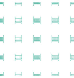 baby bed icon pattern seamless white background vector image