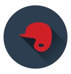 Baseball helmet icon vector image