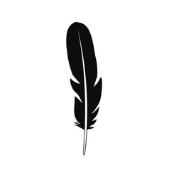 beautiful feather icon simple style vector image