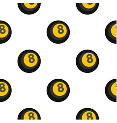 Black snooker eight pool pattern flat vector