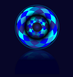 blue circle ball with shadow vector image