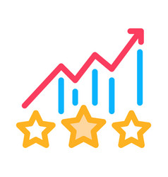 bonus star statistics icon outline vector image