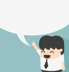 Business with speech bubbles vector image