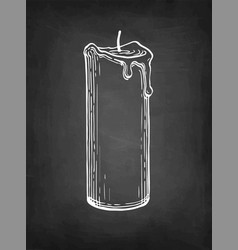 Chalk sketch thick candle vector