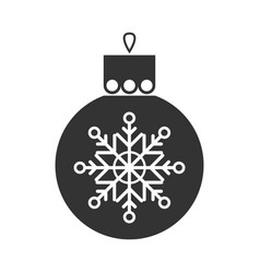 Christmas toy symbol black flat icon vector